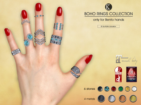 [*K*] Boho Rings Collection for bento hands