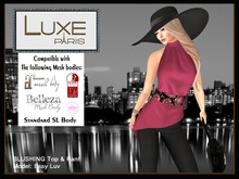 LUXE Paris BLUSHING Top and Pants