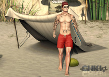 --ChkIO Poses --Surfboard - 3 ( Male)