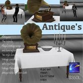 Antique's Table Victrola plays songs dancing(crate)