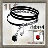 edge grafica / 09 choker set(cabochon)