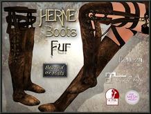 ** Herne Boots Fur ** (Belleza Venus TMP Maitreya Slink PH/HR)