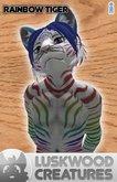 Luskwood Rainbow Tiger Furry Avatar - Male