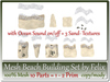Mesh Beach Building Set by Felix 10 Parts=1-2 Prim each copy-mo