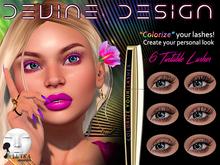 Devine Design - Tintable Lelutka Lashes 01