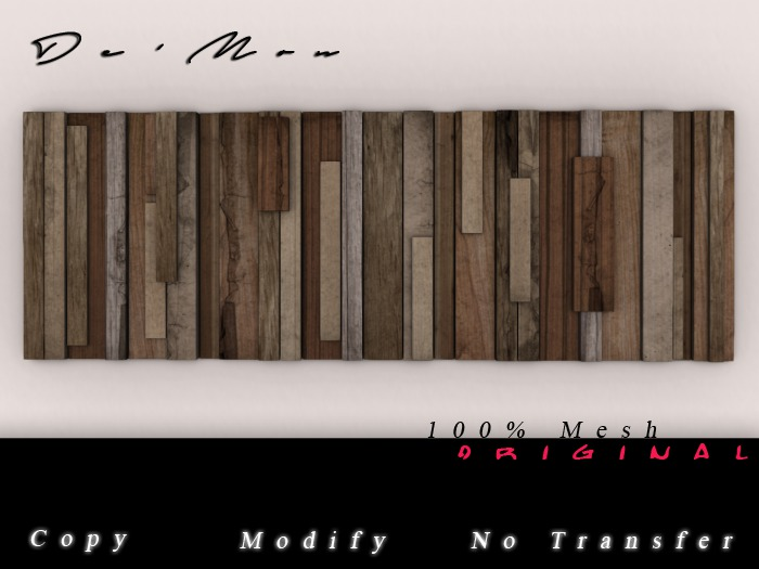 .::De'Mon::. Slats Wall Hanger - Bare Wood