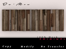 .::De'Mon::. Slats Wall Hanger - Bare Wood
