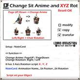 IJIMO INDUSTRY - Change Sit Anime and XYZ Rot Script Resell OK