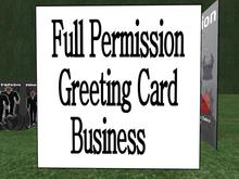 FULL PERMISSION Greeting Card business in a box!