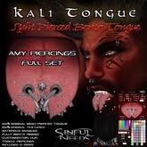 Kali Split Bento Tongue with Amy Piercings Full Set