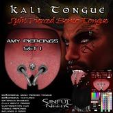 Kali Split Bento Tongue with Amy Piercings Set 1