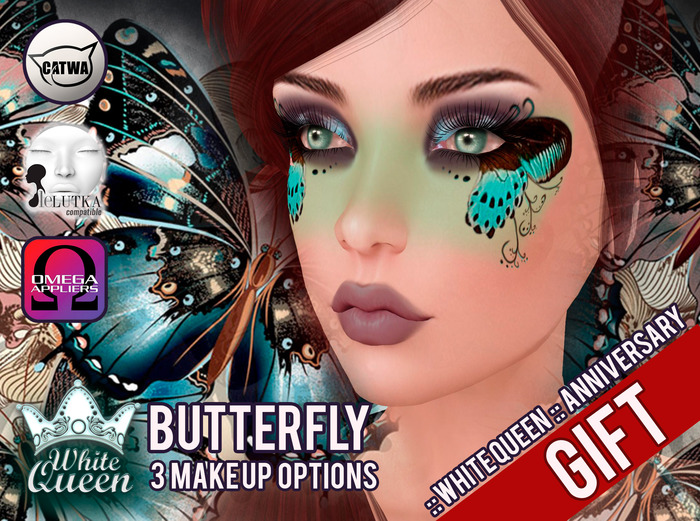 ::White Queen :: Butterfly Make up - catwa - lelutka - omega