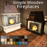 [DDD] Simple Wooden Fireplaces