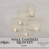 Myth - Wall Candle Quintet Gold