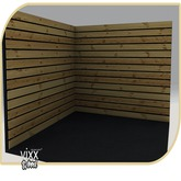 -VIXX- Mesh backdrop - Wood