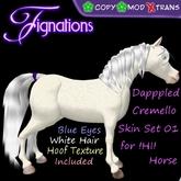 *Fig* Dappled Cremello Horse Texture Kit 01 M/C