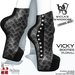 Wicca's Wardrobe - Vicky Booties [Floral] [BOXED]