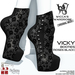 Wicca's Wardrobe - Vicky Booties [Roses Black] [BOXED]