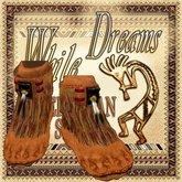 * MOCASSIN KOKOPELLI- Indian Native Amerindian - While Swot