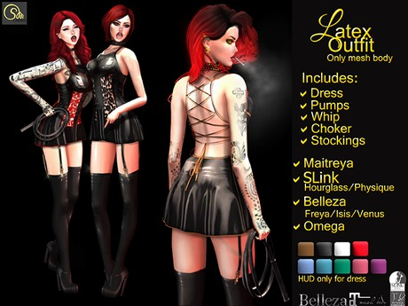 Second Life Marketplace Lisan Latex Outfit Maitreya