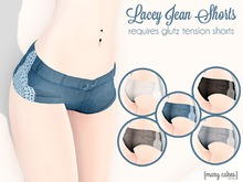 {MC} Lacey Jean Shorts Mod for glutz tension shorts