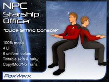 NPC Starship Officer - Dude1 Sitting Console