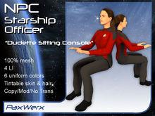 NPC Starship Officer - Dudette1 Sitting Console