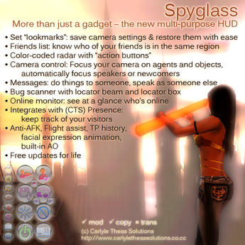 (CTS) Spyglass - A Multi Purpose HUD - Radar, Camera Angle Saver, Online Monitor & More
