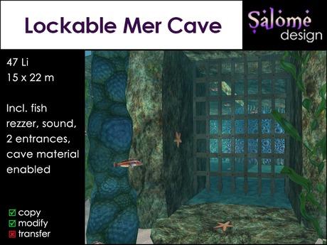 Lockable Mer Cave Sales Box