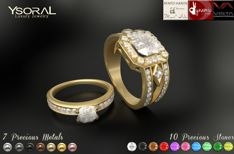 (BENTO)~~ Ysoral ~~ .:Luxe 2 Rings Wedding Eternel:.