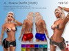 -JL- Oxana Outfit (HUD) for Maitreya, Slink (all), Belleza (all), TMP, Tonic (all), eBody, Classic