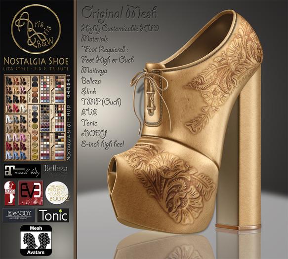 ***ArisArisB&W~Nostalgia-Lita Style Shoes~Customizable