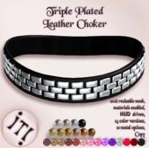 !IT! - Triple Plated Leather Choker