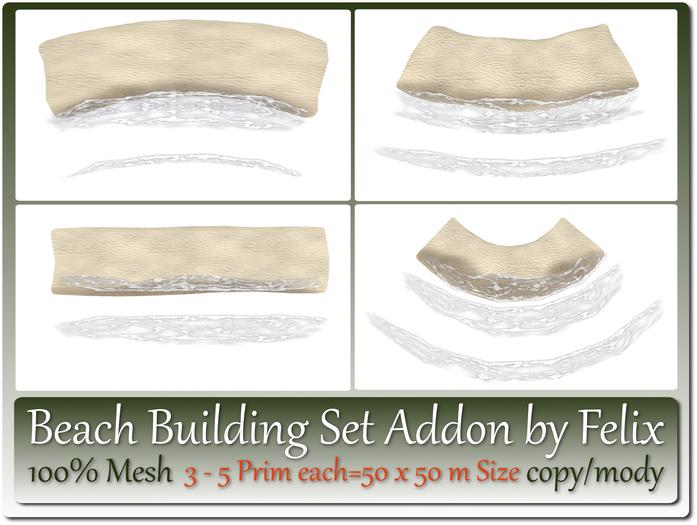 Mesh Beach Building Set Addon 3-5 Prim each=50x50m Size copy-mo