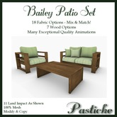 *Pastiche* Bailey Patio Set [Crated]