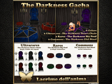 (BOX) The Darkness Girl Stool - Amethyst