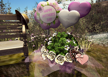 CJ Happy Mother Day clover Basket with sweets + balloons  m+t