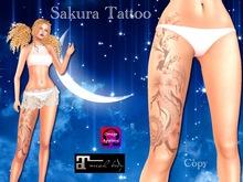 ...:::Dragon & Cherry Blossom Tattoo - 3 Intensities- Sakura:::... at leg
