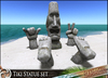 HeadHunter's Island - Tiki stone statue set - MOAI Easter island inspired sculpture with hands and feet -  MESH