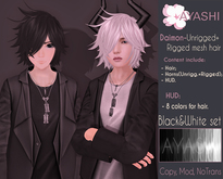 [^.^Ayashi^.^] Daimon hair-Black&White set