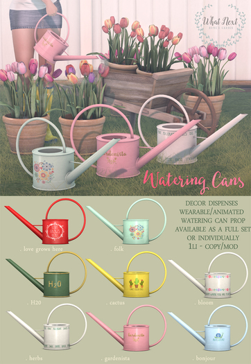 {what next} Watering Cans - Full Set