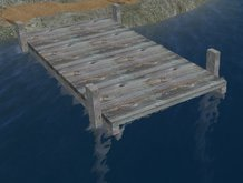 Rustic Wooden Boat Dock, Pier, or Deck (MT)