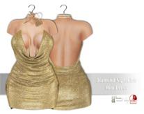 IS Diamond NightClub Mini Dress GLITTER GOLD
