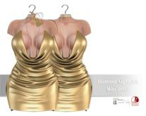 IS Diamond NightClub Mini Dress SILK GOLD