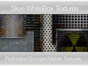 *Skye WhiteBox Textures - 110 Perforated Grunged Metals -  Full Perms Grungey Textures