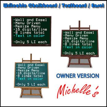 Chalkboard / Textboard / Easel (128) - Owner Version