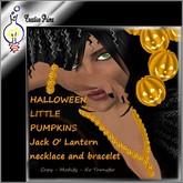 Halloween little pumpkins - Jack O' Lantern - necklace and bracelet