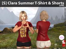 [S] Clara Summer T-Shirt & Shorts Love
