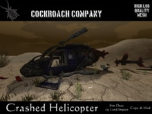 [COCKROACH] Crashed Helicopter (Mesh)
