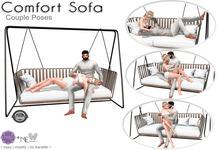 Comfort Sofa - Purple Poses + Me [ Couple Poses]